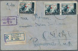 Jugoslawien - Volksrepubliken 1945: Kroatien: 1945, 10k. On 1k. Greenish Blue, Single Stamp And Pair - Kroatien