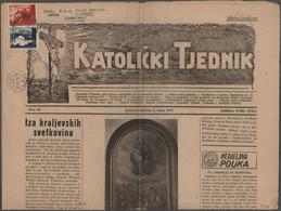 "Kroatien: 1942/1944, 0.75k. Newspaper Rate To Hungary: Two Complete Newspapers ""KATOLICKI TJEDNIK"" F - Kroatien"