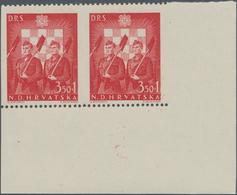 Kroatien: 1944, National Labour Service, 3.50k+1k.-32k.+16k., Perf. 12½, Complete Set In Bottom Marg - Kroatien