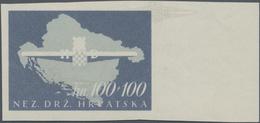 Kroatien: 1945, Storm Trooper, 50k.+50k. And 100k.+100k., Two Imperforate Colour Proofs On Gummed Pa - Kroatien