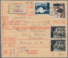 Kroatien - Portomarken: 1941, 10 Dinar Der Ersten Portomarken-Aufdruckausgabe Auf Paketkarte Von Osi - Kroatien