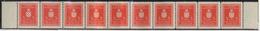 Kroatien - Dienstmarken: 1942, 3 Kuna Gezähnt L11½, Waagerechter 10er-Streifen, Rechts Und Links Mit - Kroatien
