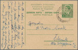 Kroatien - Ganzsachen: 1941/1943, POZEGA (SLAVONSKA), Two Commercially Used Stationery Cards: Foreru - Kroatien