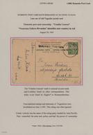 Kroatien - Ganzsachen: 1941, Late Use Of Yugoslavia Stationery Card 1din. Green In Croatia, Group Of - Kroatien