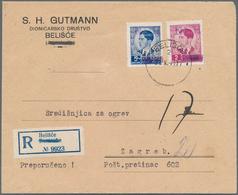 Kroatien - Besonderheiten: 1941, Private Local Issue BELISCE, Yugoslavia King Peter 2din. Purple And - Kroatien
