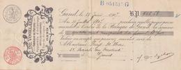 1907: Wissel Van / Traite De ## E. DE VOGELAERE, Rue De Bruges, 71, GAND ## Aan/à ## Mr. PARIJS-WEVER, ... - Électricité & Gaz