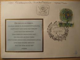 HUNDERTWASSER Yvert 1334 Painting WIEN 1975 FDC Cover AUSTRIA - Altri