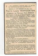 DP Pierre Louis VERPOORTEN Geb.Balen 1900,,echtg.v Maria BREESCH Aarschot,gestorven Folterkamp Grosz-Rozen 1945 - Godsdienst & Esoterisme