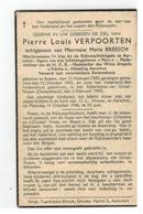 DP Pierre Louis VERPOORTEN Geb.Balen 1900,,echtg.v Maria BREESCH Aarschot,gestorven Folterkamp Grosz-Rozen 1945 - Religion & Esotérisme