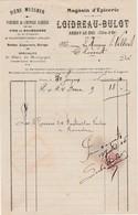 Petite Facture 1916 / LOIDREAU BULOT / Bière Messner / Vin Puligny-Montrachet / 21 Arnay Le Duc / à Marquis De Villers - Frankrijk