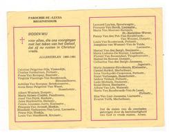 BEGIJNENDIJK PAROCHIE ST-LUCIA  Plooiprentje (13x9 Cm) Met De Overledenen 1980-1981 - Godsdienst & Esoterisme