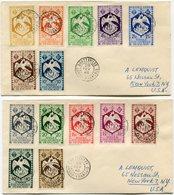 A. E. F. LETTRES DEPART BRAZZAVILLE 28 FEV 48 CONGO-FRANCAIS POUR LES ETATS-UNIS - Covers & Documents