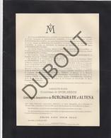 Doodsbrief Caroline Marie De SPOELBERCH °1842 Bxl †1917 De BORCHGRAVE D'ALTENA - Lovenjoel (H197) - Overlijden