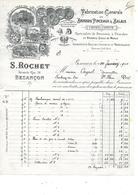 25.- BESANÇON .- S. ROCHET Fabrication Générale Brosses Pinceaux Balais - Drogisterij & Parfum