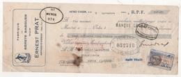 TRAITE SKICLUB - FABRIQUE DE BERETS BASQUES ERNEST PRAT - ARTHEZ D'ASSON 1934 / LASMAYOUS CHAPELLERIE A MENDE LOZERE - Kleding & Textiel