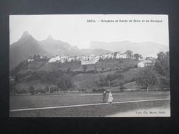 CPA SUISSE (V1931) BULLE Libr Ch. Morel (2 Vues) Gruyères Et Dents De Broc Et De Bourgoz - FR Fribourg