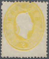 Österreich: 1860, Franz Joseph Ovalausgabe 2 Kr. Gelb, Eng Gezähnt, Vollzähnige Und Frische Marke, U - 1850-1918 Imperium
