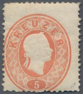 Österreich: 1860, Freimarke Kaiser Franz Joseph 5 Kr. (blass)rot, Ungebraucht Mit Originalgummi Und - 1850-1918 Imperium