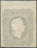 Österreich: 1861, (1.05 Kr) Hellgrau Vom Oberrand Zeitungsmarke Ungebraucht Mit Falzrest, Die Marke - 1850-1918 Imperium