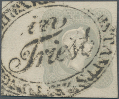 Österreich: 1861, Zeitungsmarke Franz Joseph (1.05 Kr.) Hellgrau Vom Linken Bogenrand (10 Mm) Ansons - 1850-1918 Imperium