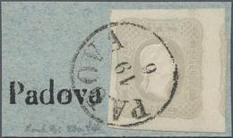 Österreich: 1861, Zeitungsmarke Franz Joseph (1.05 Kr.) Hellgrau Allseits Voll- Bis überrandig Mit T - 1850-1918 Imperium
