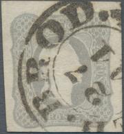 Österreich: 1861, Zeitungsmarke Franz Joseph (1.05 Kr.) Dunkelgrau Allseits Voll- Bis Breitrandig Mi - 1850-1918 Imperium