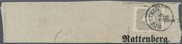 Österreich: 1861, Zeitungsmarke Franz Joseph (1.05 Kr.) Dunkelgrau Allseits Voll- Bis Breitrandig Au - 1850-1918 Imperium