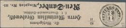 Österreich: 1861, Zeitungsmarke Franz Joseph (1.05 Kr.) Grau Allseits Voll- Bis Breitrandig Auf Komp - 1850-1918 Imperium