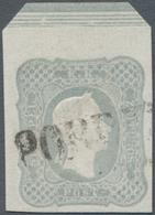 Österreich: 1861, Zeitungsmarke Franz Joseph (1.05 Kr.) Grau Vom Oberrand Mit Kompl. Randleiste Und - 1850-1918 Imperium
