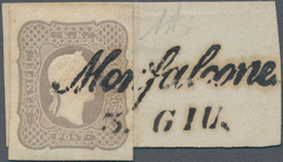 Österreich: 1861, Zeitungsmarke Franz Joseph (1.05 Kr.) Grauviolett Allseits Voll- Bis Breitrandig A - 1850-1918 Imperium