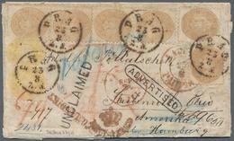 Österreich: 1867 RUSSLAND-ÖSTERREICH-USA: Chargierter Faltbrief Von Tula (RUSSLAND) Nach Steubenvill - 1850-1918 Imperium