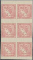 Österreich: 1870, Zeitungsmarke: Merkurkopf, Neudruck Im Senkrechten 6er-Block. - 1850-1918 Imperium