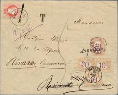 Österreich: 1877, 5 Kr Rot, Feiner Druck, Entwertet Mit K1 WEIDLINGAU, 1/8 77 (Tintenstrich Auf Mark - 1850-1918 Imperium