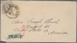 Österreich: 1868, 25 Kreuzer Grau Als EF Entwertet Mit K1 SALZBURG B.H. Auf Brief Mit Inhalt Nach US - 1850-1918 Imperium