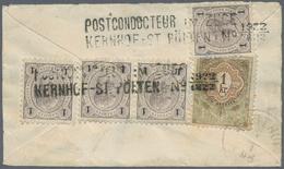 Österreich: 1890/1893, 4 X 1 Kr Grau/schwarz Und 1 Kr Braun/grün Fiskalmarke Mit Jz.1893, Entwertet - 1850-1918 Imperium