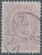 """Österreich: 1899, Freimarke 2 Kr Mit Stempelabschlag """"VADUZ 18/9/01"""" Entwertet, """"echt Und Einwandfre - 1850-1918 Imperium"""