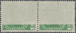 Österreich: 1908, Franz Joseph 5 H. Grün Im Senkrechten Paar Mit Stempel Von Karlsbad Und Deutlichen - 1850-1918 Imperium