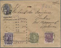 Österreich: 1908, Jubiläumsausgabe 5 Kr. Ockerbraun/schwarzviolett Und Beifrankatur Auf Wertbrief üb - 1850-1918 Imperium