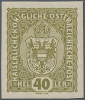 """Österreich: 1916, Freimarke 40 H Lebhaftbraunoliv, UNGEZÄHNT, Postfrisch, """"echt Und Einwandfrei"""", Fo - 1850-1918 Imperium"""