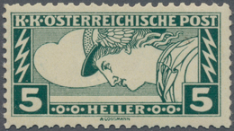 """Österreich: 1917, 5 H. Drucksachen-Eilmarke In Sehr Seltener Zähnung L 11½ : 12½, Postfrisch, """"echt - 1850-1918 Imperium"""