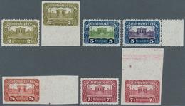 Österreich: 1919, Parlamentsgebäude, 2½, 3 Und 7½ Kronen (je 2) Sowie 5 Kronen, Insgesamt 7 Verschie - 1850-1918 Imperium