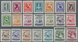 Österreich: 1925-1927, Ziffernserie 1 Groschen Bis 2 Schilling Von 21 Werten Komplett (inkl. 4 Gr) U - 1850-1918 Imperium