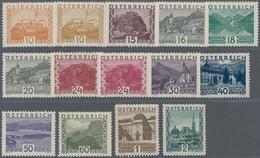 Österreich: 1929, Freimarken Landschaften Im Großen Format, Kompletter Tadellos Postfrischer Satz Vo - 1850-1918 Imperium