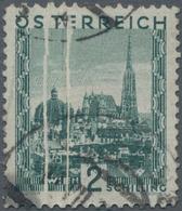 Österreich: 1929, Große Landschaft 2 S. 'Stephansdom' Mit Zwei Vertikalen PAPIERFALTEN Sowie Zwei Te - 1850-1918 Imperium