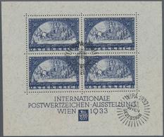 Österreich: 1933, WIPA-Block Als Ausgesucht Schöner Luxusblock Im Originalformat Mit Zwei Sonderstem - 1850-1918 Imperium