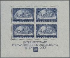 Österreich: 1933, WIPA Luxus-Block, Postfrisch In Originalgröße Mit Kaum Wahrnehmbaren, üblichen 3 H - 1850-1918 Imperium