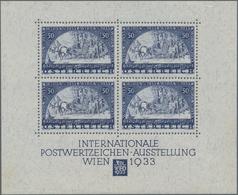 Österreich: 1933, Wipa-Block In Den Originalmaßen, Postfrisch Mit Originalgummi Und Oben Mit übliche - 1850-1918 Imperium