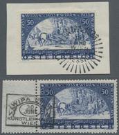 Österreich: 1933, WIPA 50+50 Gr., Beide Werte Sowohl Mit Als Auch Ohne Fasern Einwandfrei Gestempelt - 1850-1918 Imperium