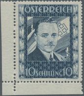 Österreich: 1936, 10 S Dollfuß, Marke Aus Der Linken Unteren Bogenecke, Ungebraucht, Sehr Sauber Ent - 1850-1918 Imperium
