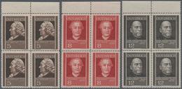 Österreich: 1937, Österreichische Ärzte Kompl. Satz In Viererblocks Vom Oberen Bogenrand, Postfrisch - 1850-1918 Imperium
